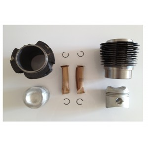 Kit 2 chemises+2 pistons+segments fonte Ø74mm / set of 2 barrels, 2 pistons and rings  Ø74mm cr 9.1